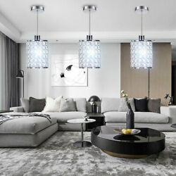 3x 60W E12 Crystal Chandelier Pendant Ceiling Light Downwards Height Adjustable $68.01