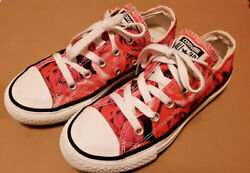 Converse Chuck Taylor All Star Kids Size 13 Pink Rose Floral $7.50