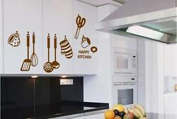 Happy kitchen Home Decor Removable Wall Sticker Decal Decoration Vinyl Mural $5.50