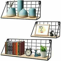 InnoGear Floating Shelves for Wall Set of 3 Wall Mounted Rustic Wood Storage... $35.99