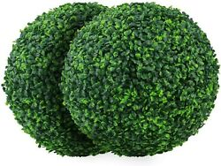 2 PCS 15.7 inch 4 Layers Artificial Plant Topiary Ball Faux Boxwood Decorative B $78.99