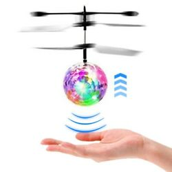 Flash Flying Ball Infrared Induction Colorful LED Disco RC Helicopter Toy $6.89