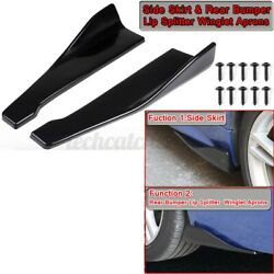 Rear Bumper Lip Splitter Winglet Aprons Side Skirt For Infiniti Q50 Q60 Q70 G25 $21.99