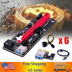 6PCS 60cm VER009S PCI E Riser Card PCIe 1x to 16x USB 3.0 Data Cable Bitcoin $49.99