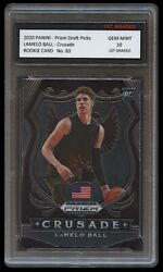 LAMELO BALL 2020 21 PANINI PRIZM 1ST GRADED 10 ROOKIE CARD RC CHARLOTTE HORNETS $74.99