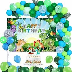 55 Pcs Dinosaur Birthday Party Decorations with Dino Theme Party for Kids Party $23.63