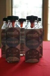 Evenflo Baby Bottles 5 Bottles with Labels and Nipples Complete set $20.50