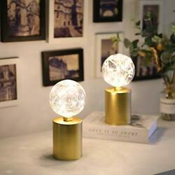 JHY DESIGN Set of 2 Gold Table Lamp Battery Powered 8quot; Tall Cordless Lamp Light $34.60