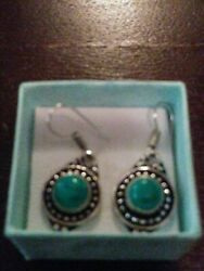 Vintage Silver Plated Turquoise Earrings $4.99