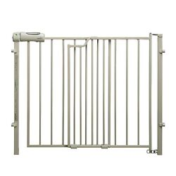 Evenflo Secure Baby Pet Gate Walk Thru Top Of Stairs 29 42quot; Wide 30quot; Tall Beige $61.95