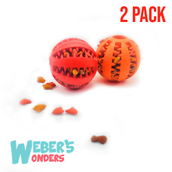 2 Pack Paw Tricky Treat Ball for Dogs Food Dispensing Puppy Toy Non Toxic