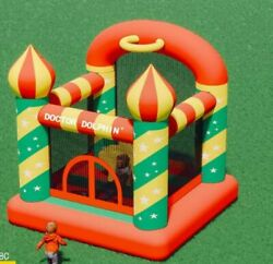 Christmas kids gift Inflatable Bouncer House W Air Blower amp;Jumping Castle250lbs $134.99