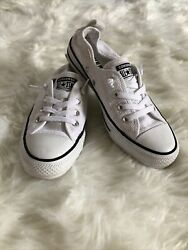 Converse All Star Womens Casual Shoe Size 7 White Tennis Shoes Sneakers $36.99