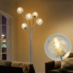 Modern Arc Floor Lamp Tall Pole Standing Floor Light with Globe Glass Lamp Shade $75.58