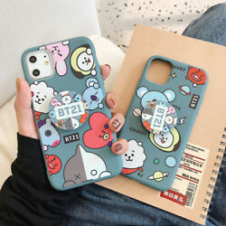 Cute Bts BT21 Soft Phone Case Cover For iPhone 12 Pro Max 11 Pro XR XS 6 7 8Plus