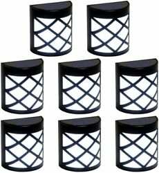 8Pcs Solar Fence Lights 6 LED Waterproof Decorative Outdoor Wall Deck Patio Lamp