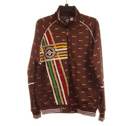 Lifted Research Group Guiding Star Men#x27;s Warm Up Track Jacket Rasta Logo $49.99