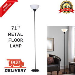 71 Inch Metal Floor Lamp Reading Living Room Light Stand Scoop Shade Bedroom New $14.99