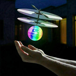 Flash Flying Ball Infrared Induction Colorful LED Disco RC Helicopter Toy ES $9.99