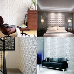 12Pcs 3D Wall Panel Decoration Ceiling Tiles Wallpaper Decal Background $25.79