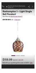 Pendant mosaic glass brushed nickel three pendant fixtures $179.00