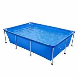 JLeisure 17818 Above Ground Rectangular Steel Frame Swimming Pool 8.5 x 6 Ft $139.99