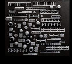 Greeblies 68 pc for kitbash spaceship sci fi scratchbuild 3d print $15.99