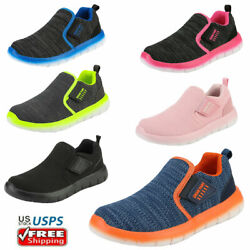 Kids Boys Girls Toddles Comfort Loafers Slip on Casual Shoes Running Shoes $21.84