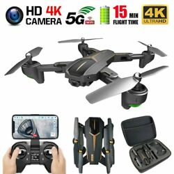 VISUO XS812 GPS Drone with 4K HD Dual Camera 5G WIFI Altitude Hold Follow Mode $153.78