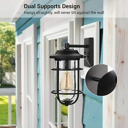 DEWENWILS Outdoor Exterior Light Fixture Glass Shade Wall Sconce Light HOWL05A