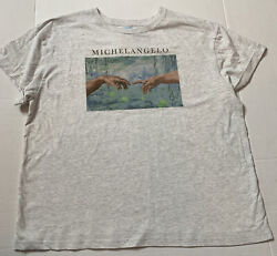 *NWT* Women's Fifth Sun Size XL Michaelangelo Cuffed Short Sleeve T Shirt $12.29