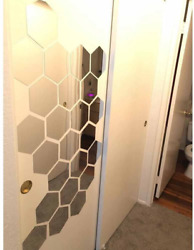 Hexagon Wall Decals H2MTOOL 12 PCS Large Removable Acrylic Mirror Wall Stickers $29.99