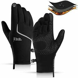 CXW Winter Cycling Gloves Waterproof Touch Screen Full Large Blackamp;Silver $30.99