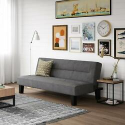 FUTON SOFA BED Convertible Couch Lounger Modern Living Room Sleep Loveseat Gray $153.75