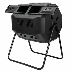 Compost Bin Large Composting Tumbler 43 Gallon Dual Rotating Outdoor Garden $69.54