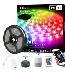 LE LED Strip Lights 16.4ft WiFi Smart Waterproof Color Changing LED Strips ...