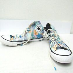Converse All Star Women#x27;s Hi Tops Shoes Size 9 Blue Stars 90s Style Pattern $20.00