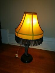 A Christmas Story 20quot; Tabletop Leg Lamp Collectable Fringe Shade amp; night light $42.00