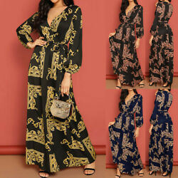 Women's Long Sleeve Maxi Long Dress Holiday Evening Party Cocktail Wrap Dresses $34.62