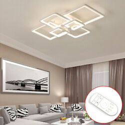 Modern Rectangle LED Acrylic Ceiling Light Chandeliers Home Light with RC Hot