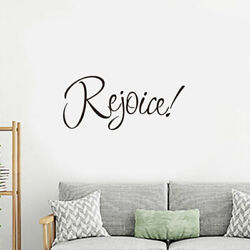 Rejoice Christian Bedroom Wall Sticker For Home Decoration Wall Decal black $3.99