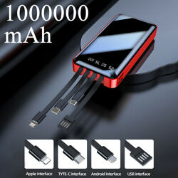 1000000mAh Backup External Battery USB Power Bank Pack Charger for Cell Phone $13.99