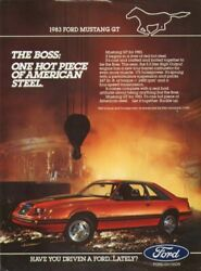 The Boss One Hot Piece of American Steel Mustang 1983 $11.99