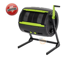 Garden Composter Tumbler 65 Gal 2 Stage Plastic Rodent Resistant Outdoor $278.75