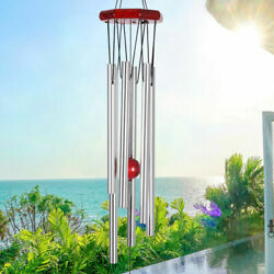 30quot; Wind Chimes Deep Tone Large with 6 Large Tubes Gift for Garden Hanging Decor $8.59