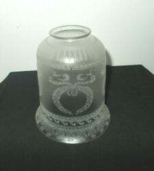 ANTIQUE VICTORIAN ETCHED LAMP LIGHT SHADE 2 1 8quot; FITTER L8 $12.99