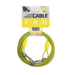 25 Feet Dog Tie Out Cable Steel Pet Large Dogs up to 35 Pound Yellow $10.60