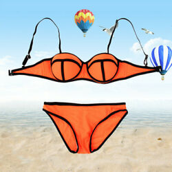 Sexy Women#x27;s Bikini Set Push Up Swimwear Swimsuit Bathing Suit Beachwear Orange $5.56