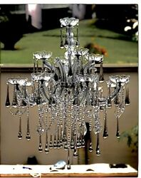 Antique Crystal Chandelier Italian Murano Crystal One Of A Kind Unused $650.00