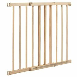 Evenflo Top Of Stairs Extra Tall 32quot; Safety baby Gate Fits 30 48quot; Wide Tan Wood $39.95
